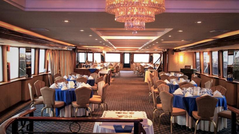 Royal Princess Charter Yacht Dining Room