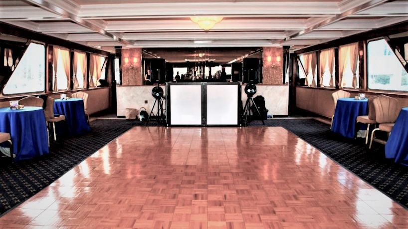 Royal Princess Charter Yacht Dance Floor & Lounge