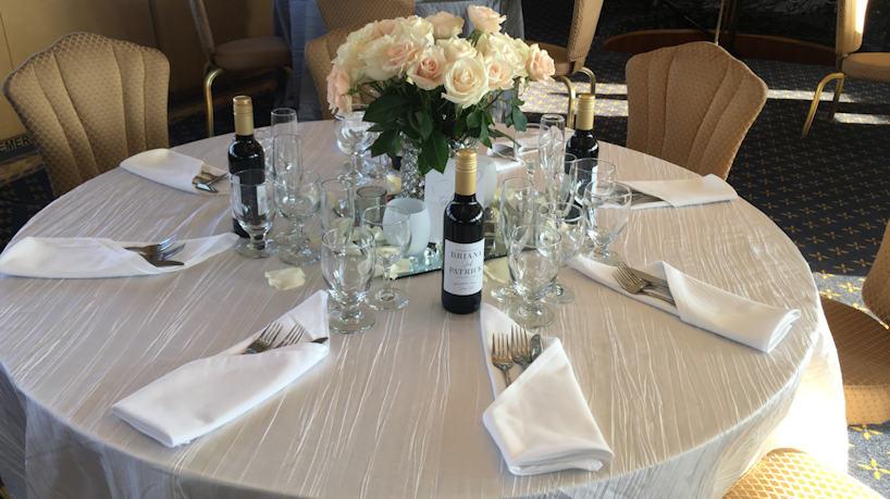 Royal Princess Charter Yacht Dining Room Table
