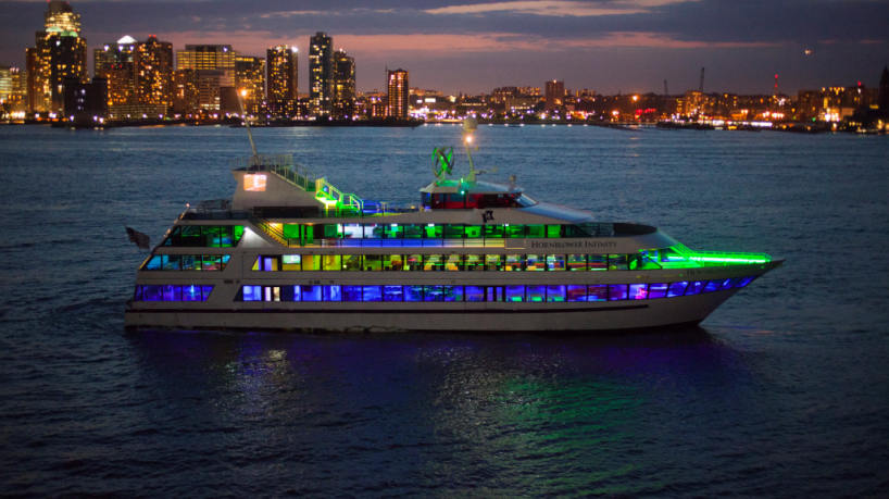Charter Yacht Hornblower Infinity at Night