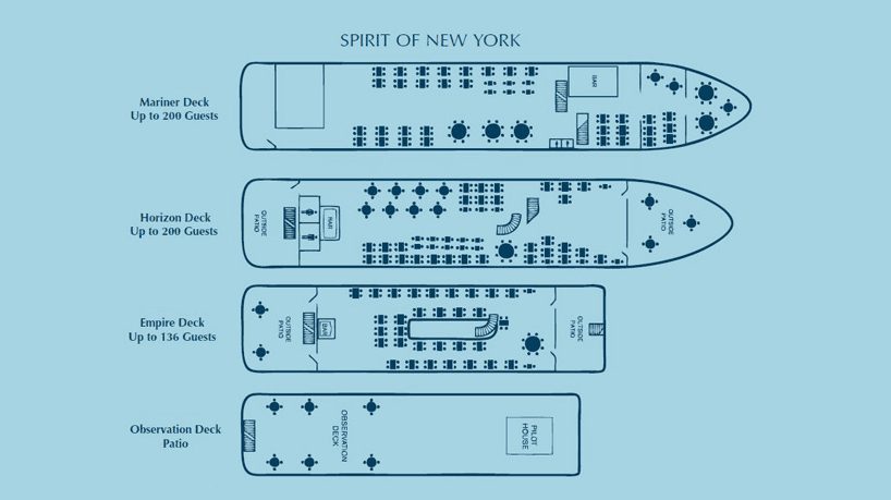 Charter Yacht Spirit of New York Lounge